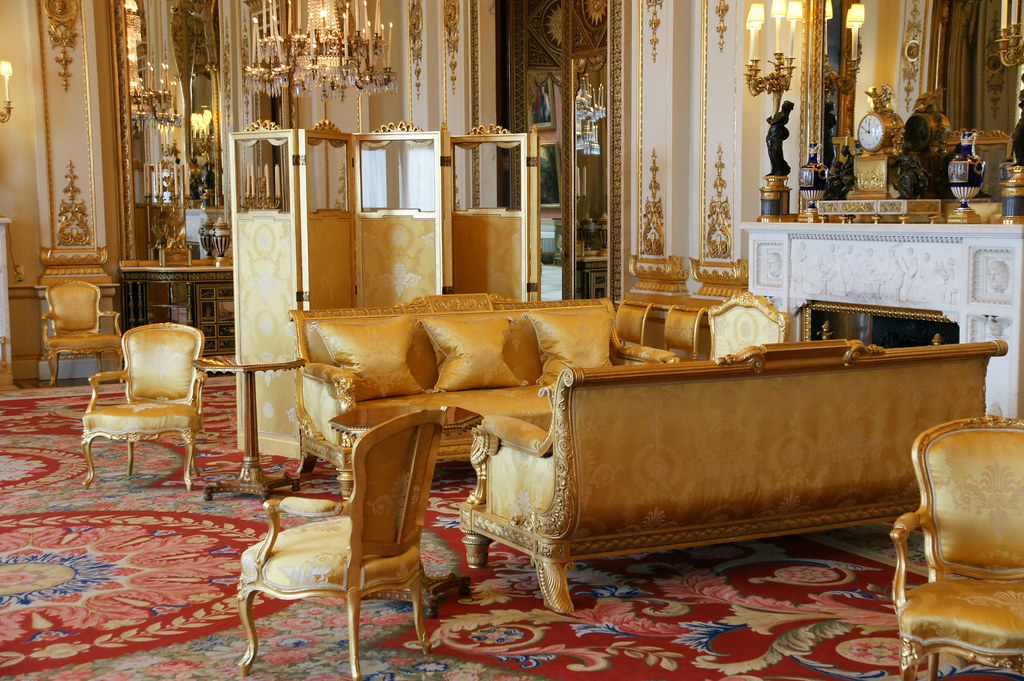 Buckingham Palace The White Drawing Room The British