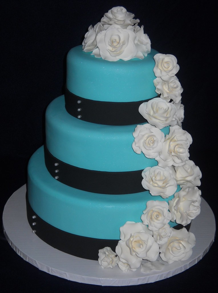 Tiffany Blue Wedding Cake So First Time Making Gumpaste