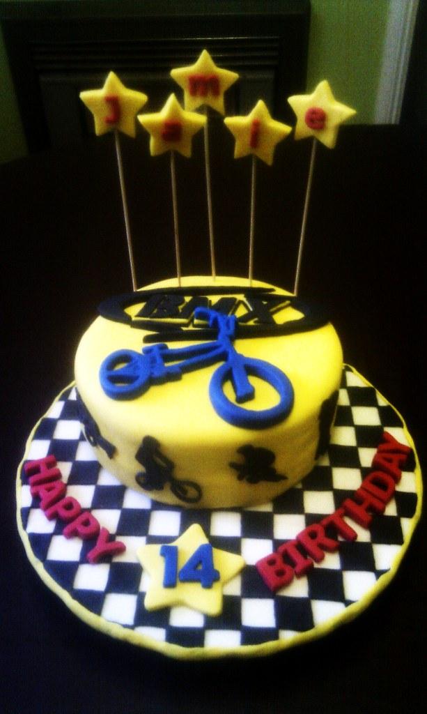 Bmx Bike Birthday Cake Maria Hartwich Flickr