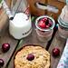 Cherry Pistachio Crumble Cake