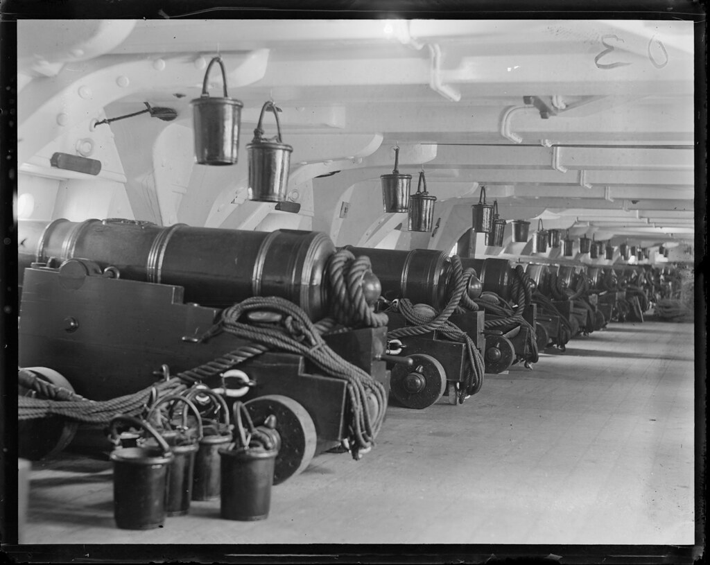 Gun deck of USS Constitution | File name: 08_06_007511 ... Uss Constitution Pictures Of Deck