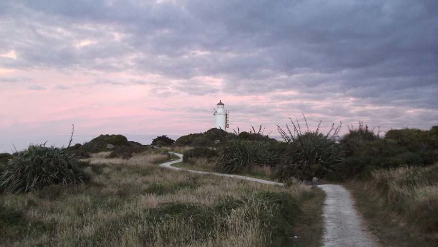 Sunset - Cape Foulwind Lighthouse, New Zealand