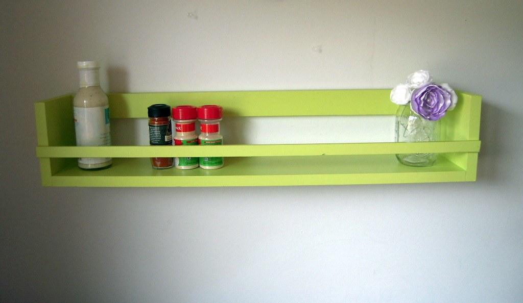 Over The Stove Spice Rack Organizer Shelf In Tea Green