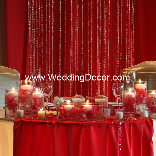 Red Wedding Ideas On A Budget: Head Table Decorations - Red & Gold