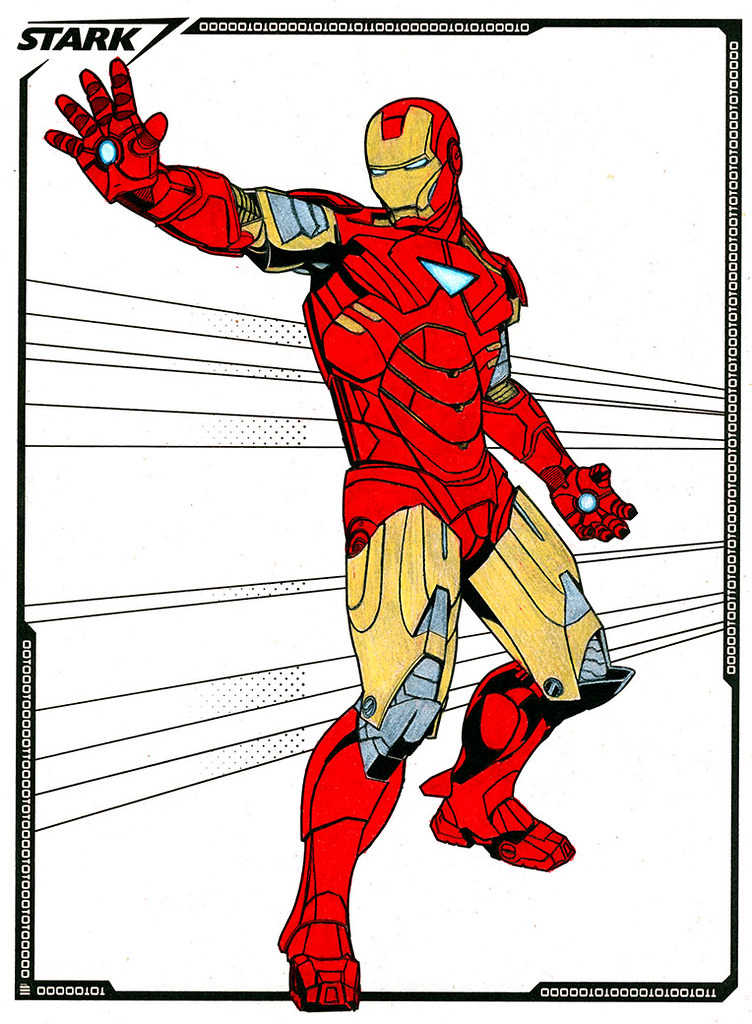 Iron Man coloring book (in progress) | Coloring books provid… | Flickr