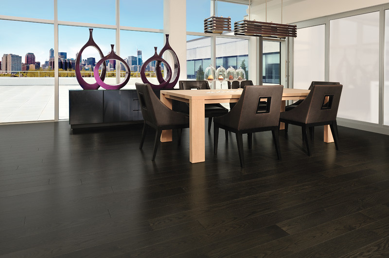 Red Oak Graphite [dining room] | Luminous Dining room ...