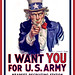 Uncle Sam I Want You - Poster White Background