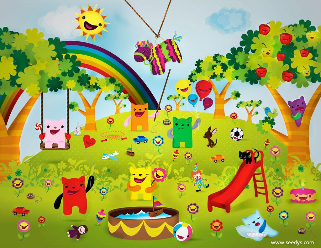 Jardin de ni os qu felicidad ser ni o cherry tree flickr for Juegos para jardin nios