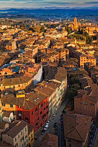 Birds-eye View of Siena, Italy, From the Top of Torre del Mangia | by William Yu Photography / Photo Workshops