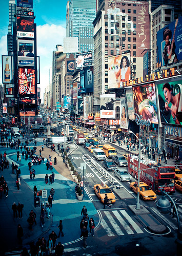times square action - new york city | by pamela ross