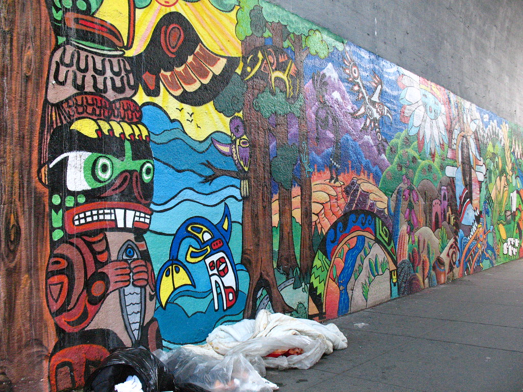 Native american inspired graffiti in astoria nyc located flickr amipublicfo Choice Image