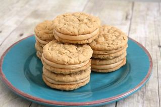Peanut Butter Oatmeal Sandwich Cookies | by Tracey's Culinary Adventures