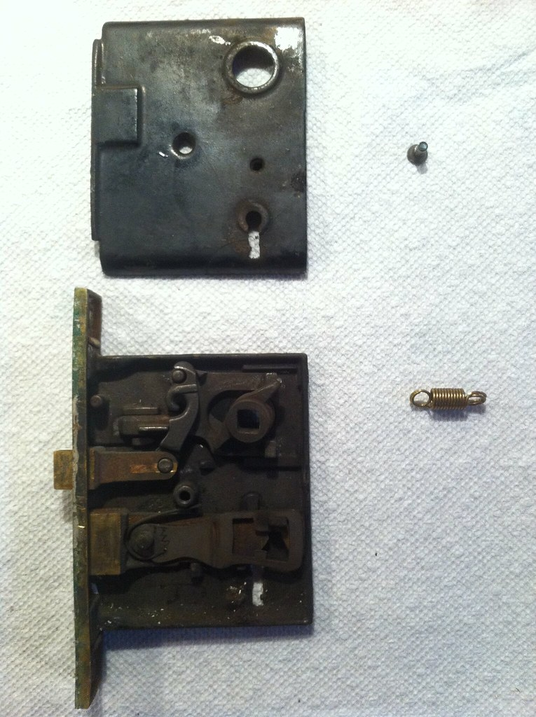 My Old House Replace Door Lock Spring Steve Garfield