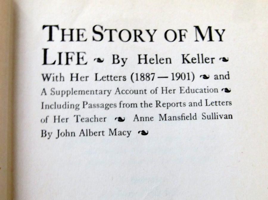 Antique 1905 Book Helen Keller The Story Of My Life border=