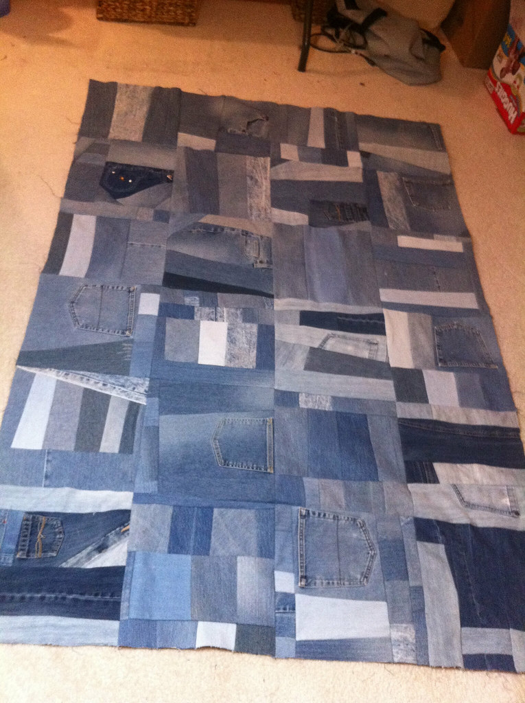 Denim Commission Quilt Top Completed Going To Tie This