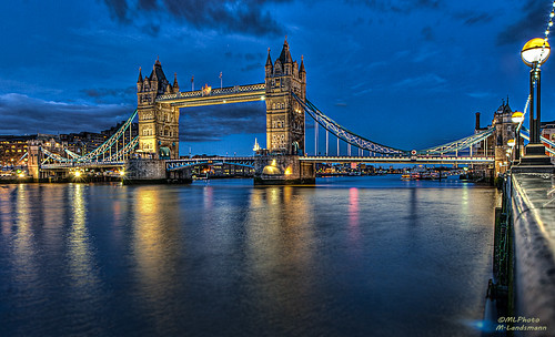 Tower Bridge during the blue hour...(Explored) | by .Markus Landsmann - markuslandsmann.zennfolio.com