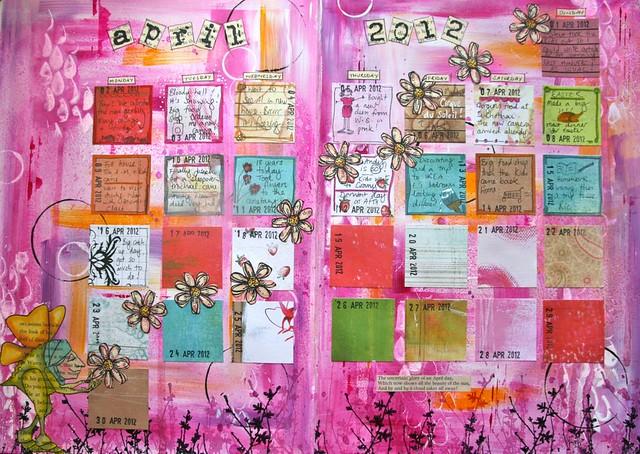 Calendar Art Journal : Art journal calendar flickr photo sharing