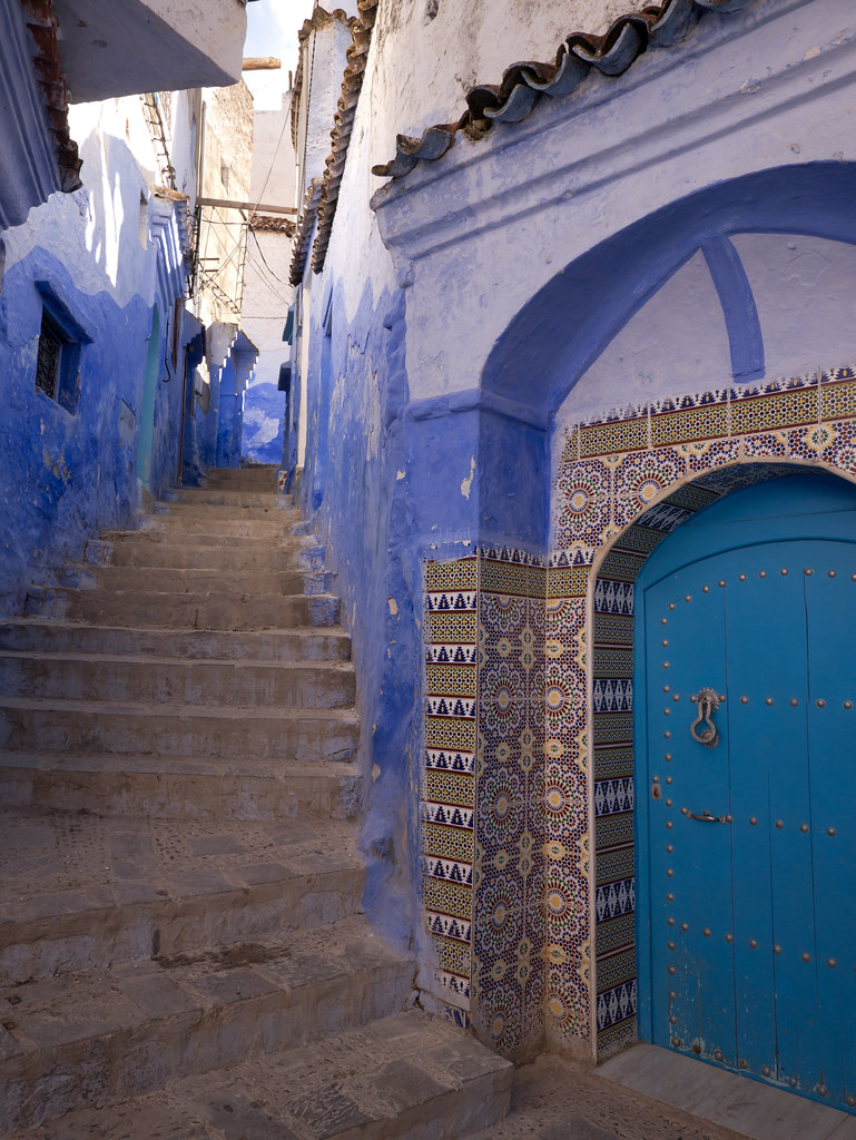Chefchaouen Door Morocco With Panasonic Gx1 And Lumix 7 1