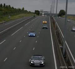 Audi R8 spyder, Porsche Speedster, maserati grandturismo S and ferrari 599