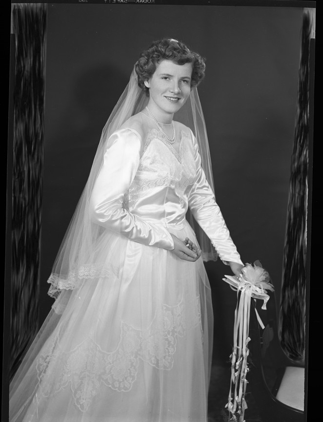 Esther Tostad In Her Wedding Dress To Be Married To Loren