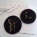broches bordados - embroidery broochs