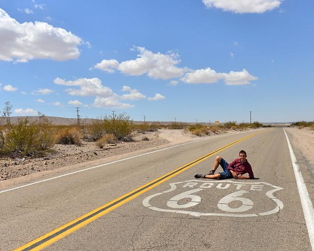 Tramo de la ruta 66 que hicimos durante uno de los días de itinerario por la Costa Oeste de EEUU