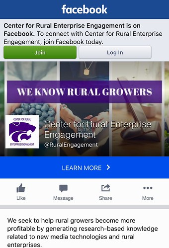 KSU Center for Rural Enterprise Engagement Facebook screenshot