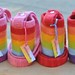 felted water bottle carriers :: rainbow group