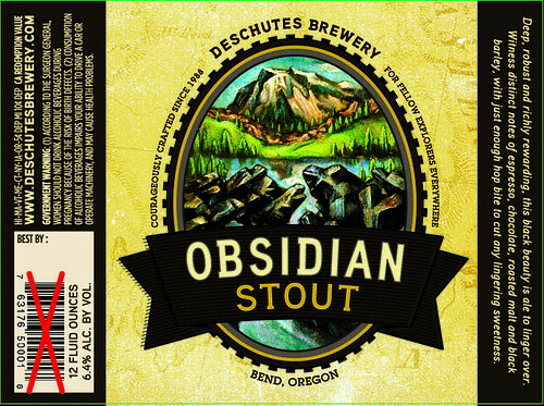 Obsidian Stout New Label | by DeschutesBrewery