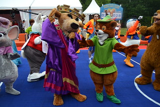 Prince John and Robin Hood at Disney's All-Star Basketball Game