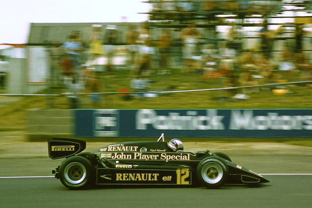 Nigel Mansell Lotus 94t During Practice For The 1983 Bri Flickr