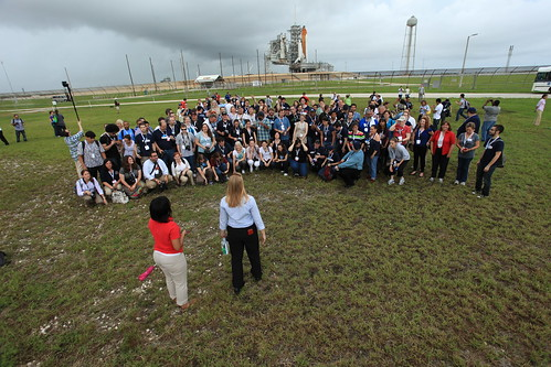 The NASA Tweetup in front of the Space Shuttle | by Robert Scoble