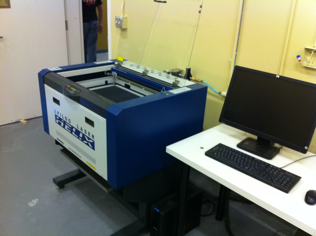 One Of The Three Laser Cutters Epilog 60w Jens Alfke