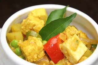 pea and paneer curry (mattar aloo paneer) | by SeppySills