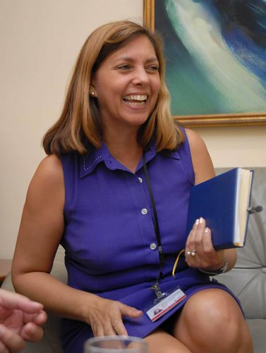 Josefina Vidal Ferreir of the North American Department of the Republic of Cuba foreign affairs division. She has responded to false allegation made by US imperialism involving her socialist country. | by Pan-African News Wire File Photos