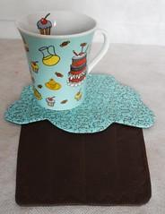 Mug Rug Cupcake Pistache by Ateliê Oh Cillá