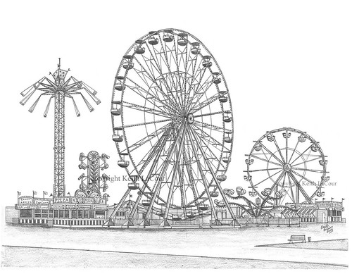 Giant Dutch Wheel pencil drawing | Flickr - Photo Sharing!