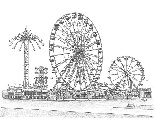 Giant Dutch Wheel Pencil Drawing Flickr Photo Sharing