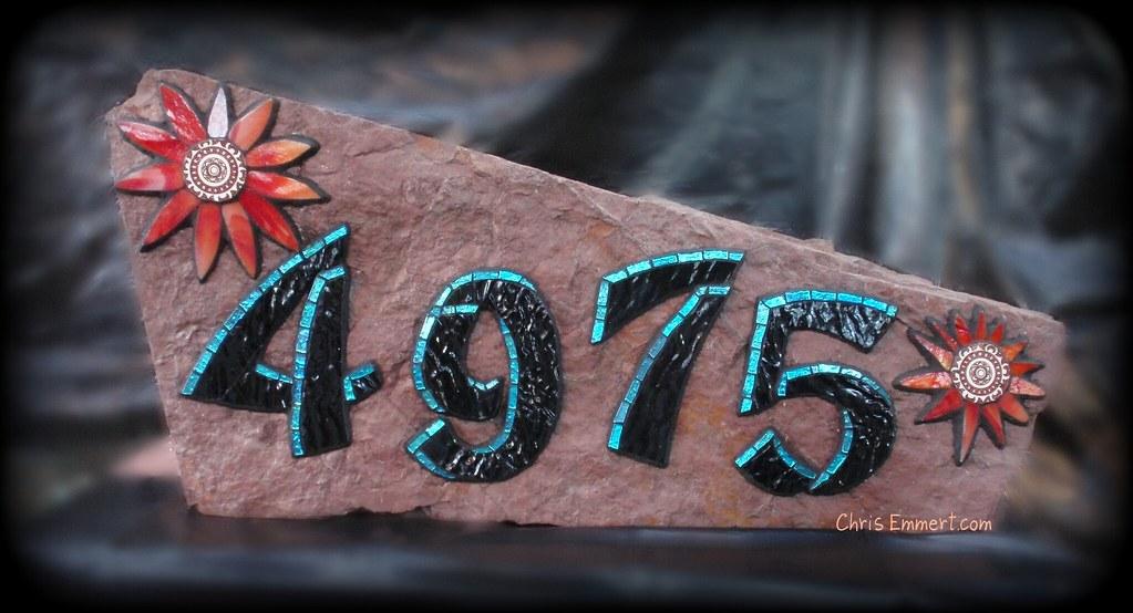 4975 Address Rock/ Mosaic House Number   Huge rock for ...