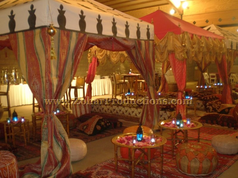 Moroccan theme party decor zohar productions an award for Arabian nights decoration ideas