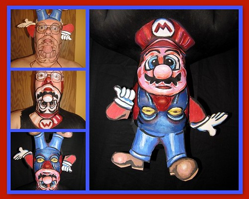 Topsy Turvy Mario. Step by step. James Kuhn, face paint art. | by hawhawjames
