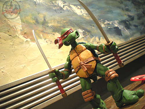 "NECA TEENAGE MUTANT NINJA TURTLES :: ""LEONARDO""  Tube Pack xvii (( 2008 )) 