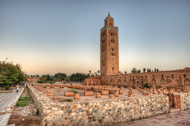 koutoubia mosque mezquita kutubia marrakech morocco hdr flickr photo sharing. Black Bedroom Furniture Sets. Home Design Ideas