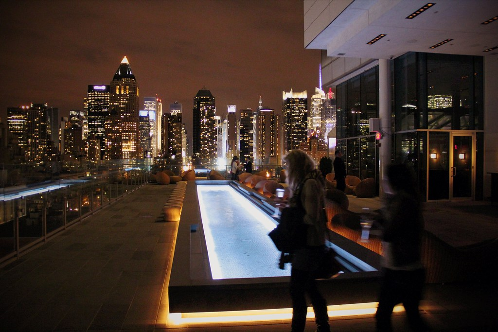 Ink 48 hotel new york view from the roof terrace bar at for 4165 woodlyn terrace york pa