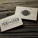 balsa wood letterpress business cards