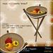 -Hanaya- Salad Bowl with Stand + Peppers