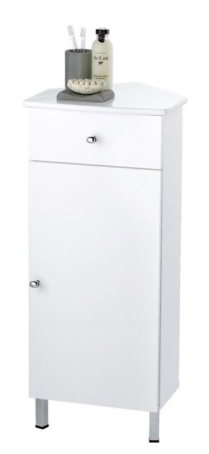 rimini white corner bathroom cabinet free standing