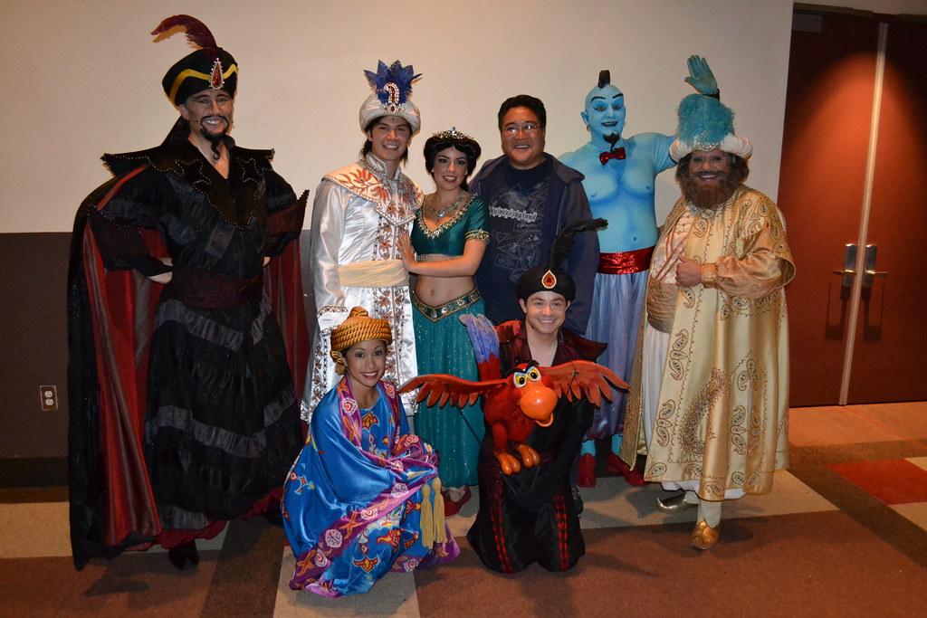 Meeting The Aladdin A Musical Spectacular Cast Loren