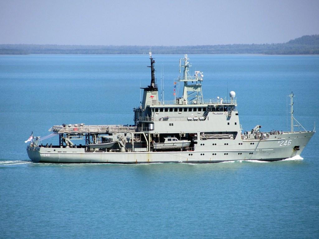 Hmas Melville Leeuwin Class Hydrographic Survey Vessel Ro