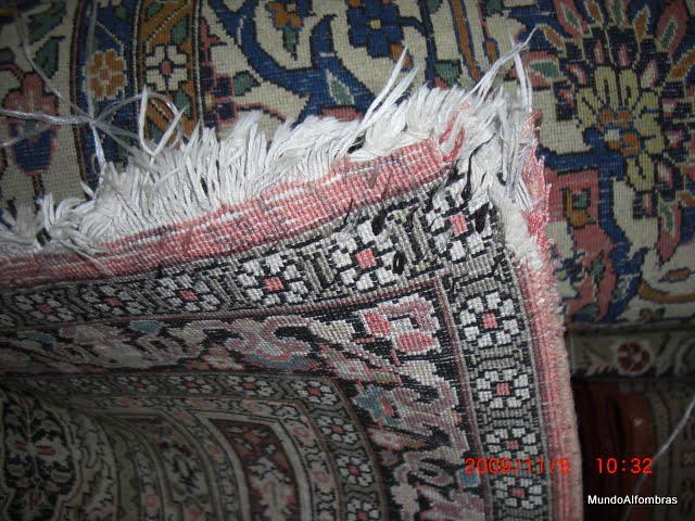 Cambio de bordes y flecos en alfombras persas recursos - Limpieza de alfombras persas ...